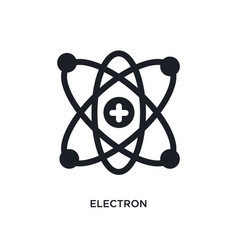 Electron isolated icon simple element from vector