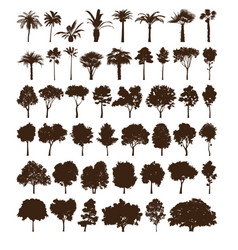 elements trees vector image