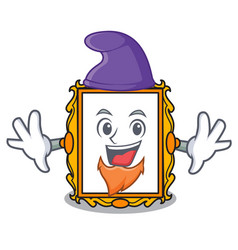 elf picture frame character cartoon vector image