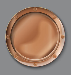 Empty copper plate vector