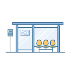 Empty public transport stop vector