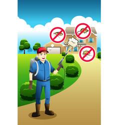Exterminator service poster vector