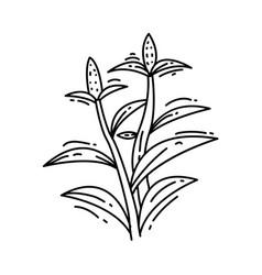 farming cornfield icon hand drawn icon set vector image