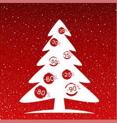 Fir-tree winter discounts christmas sale vector