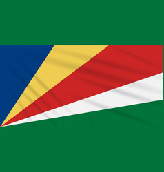Flag seychelles swaying in wind realistic vector