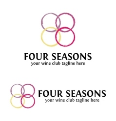 Four Seasons Wine logo Template vector image
