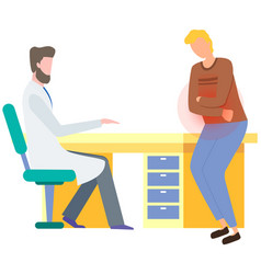Gastroenterologist consults patient vector