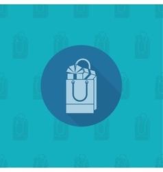 Gift in a shopping bag vector
