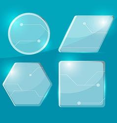 Glass Technology Border Transparent Set vector image