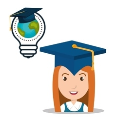graduation icon design vector image