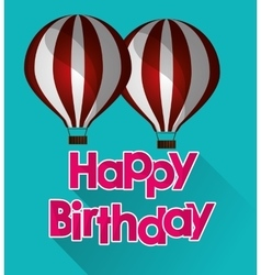 Happy birthday airballoons pink letters with vector
