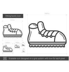 Hiking boots line icon vector