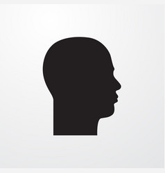 Human head icon vector