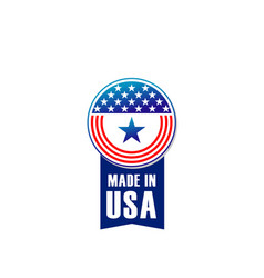 icon made in usa vector image