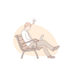 idea freelance remote working concept vector image