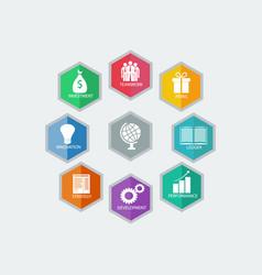 Infographic design modern business idea vector