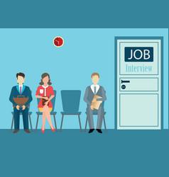 Job interview conceptual vector