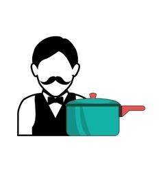 kitchen pot utensil vector image