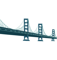 large bridge over river modern construction vector image