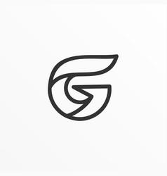 letter g silhouette design template vector image