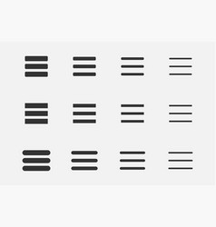 line icon element design set interface menu vector image