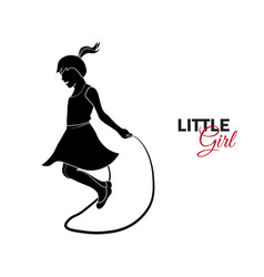 little child baby little girl jumping rope vector image