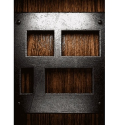 metal and wood background vector image