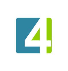 modern logo number 4 vector image