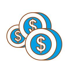 money coins dollar cash payment concept vector image