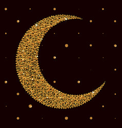 moon for holy month of muslim community ramadan vector image