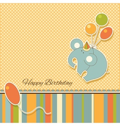 new baannouncement vintage card with elephant vector image