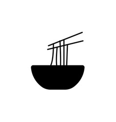 New year china noodles icon can be used for web vector