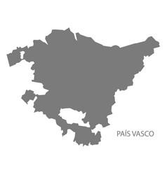 Pais vasco spain map grey vector