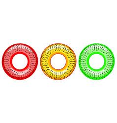 Poppy bagel icons vector