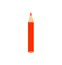red color wooden pencil vector image