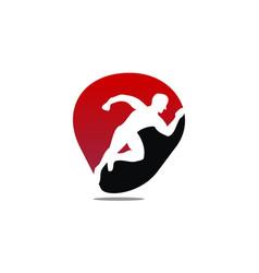 Run athlete vector