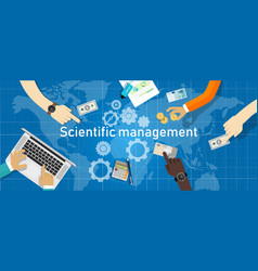 scientific management theory management that vector image