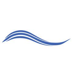 Sea ocean wave wavy curved line symbol of summer vector