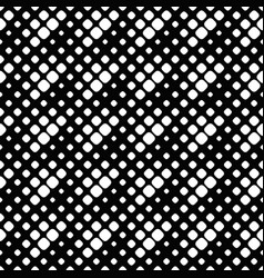 seamless black and white rounded diagonal square vector image