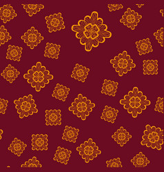 seamless geometric pattern with ornamental brown vector image