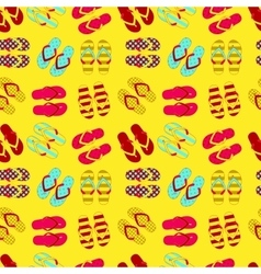Seamless pattern of flip flops in vintage style vector image