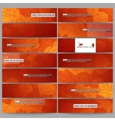 Set of modern banners Chinese new year background vector image