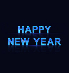 sign happy new year vector image
