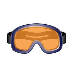Ski sport goggles in dark blue design vector