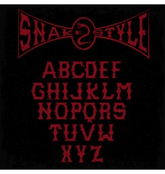 Snake style gothic grunge alphabet vector