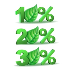 Spring Percent discount icon vector image