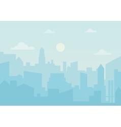 sun day ozone in city cityscape simple vector image