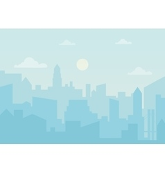 Sun day ozone in the city Cityscape simple vector