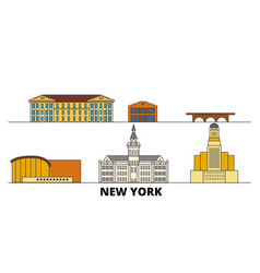 united states new york buffalo flat landmarks vector image