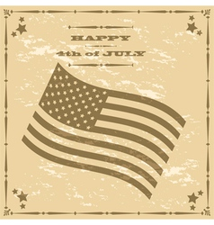 Vintage 4th of July vector